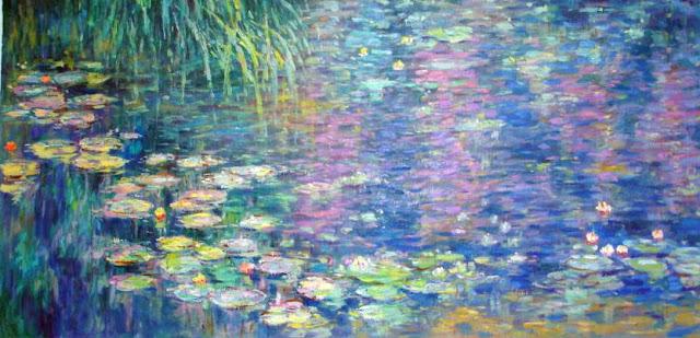 En 30 ans, Monet peignit environ 250 tableaux représentant les nénuphars de son jardin (nymphea en latin). Commençant par des représentations de style impressionniste, Claude Monet ira de plus en plus vers l'abstraction au fil du temps.